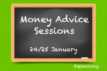 Apex tenants invited to attend Money Advice Sessions