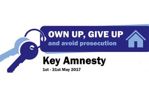 Tenancy Fraud Key Amnesty 1st – 31st May 2017