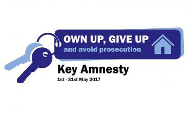 Tenancy Fraud Key Amnesty 1st – 31st May 2017