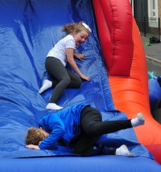Young people enjoying the activities.
