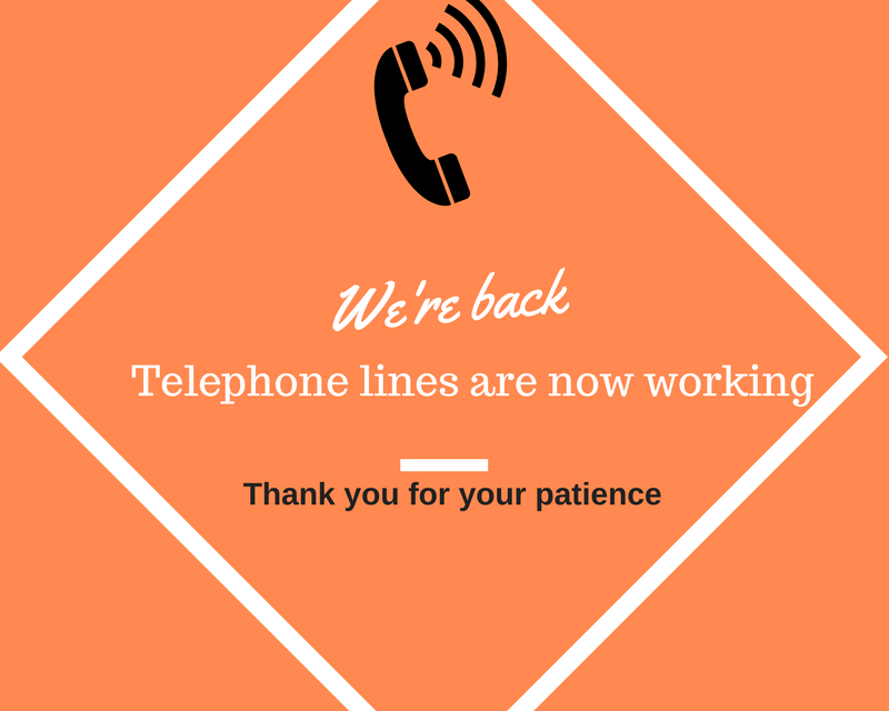 Phone lines are back in service