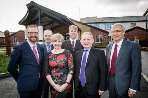 Apex welcomes Ministers Morrow and Hamilton to its Supported Living scheme in Newtownards