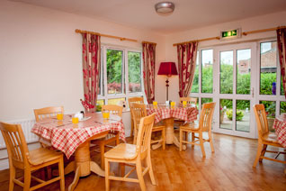 Dining room with views to the garden area