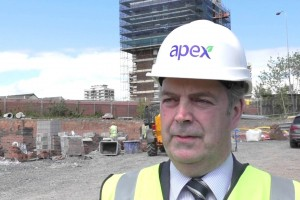 Ray Forbes - Director of Development and Procurement, Apex, speaking at the new North Queen Street, Belfast development.