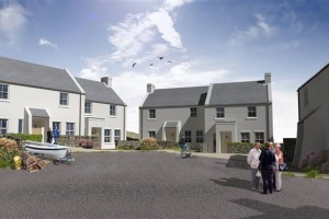 An artist impression of the Rathlin Island development when completed.