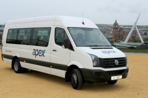 Apex's new Volkswagen bus ready for action.
