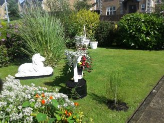 Last year's winner, Miss McAuley's beautiful garden