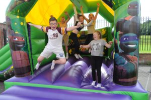 young people enjoying the activities at the fun day
