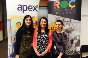 Apex Housing Officer Donna Richmond, ROC Manager Keeva Watson and Apex Housing Officer Meghan McKenna
