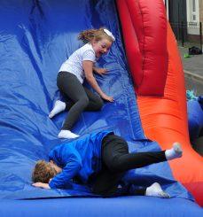 Young people enjoying the activities.