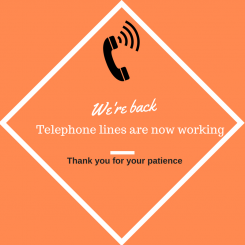 phone lines back in service