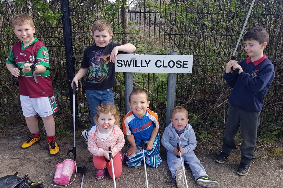 Community Clean up in Swilly Close Portstewart