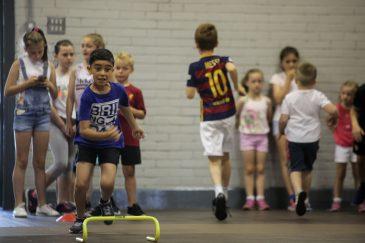 Young people enjoying athletics.