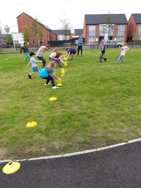 Young people from Clon Elagh taking part in Everybody Active event