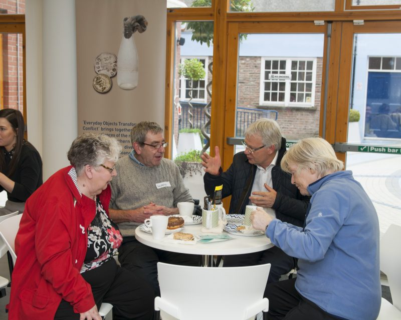 CEO, Gerry Kelly enjoying lunch with tenants