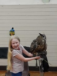 World of Owls at Halloween party