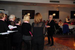 Pink Ladies Choir entertaining everyone