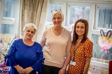 Jenny McLean Scheme Manager, Carol Gardiner- Housekeeper, Karen Collins- Housing Officer.