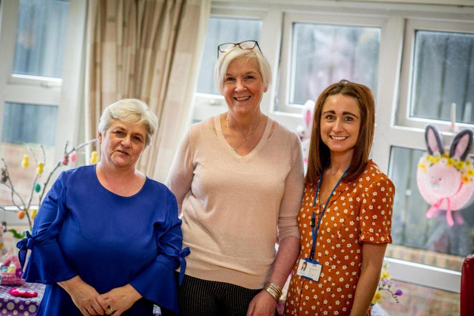 Jenny McLean Scheme Manager, Carol Gardiner- Housekeeper, Karen Collins- Housing Officer.