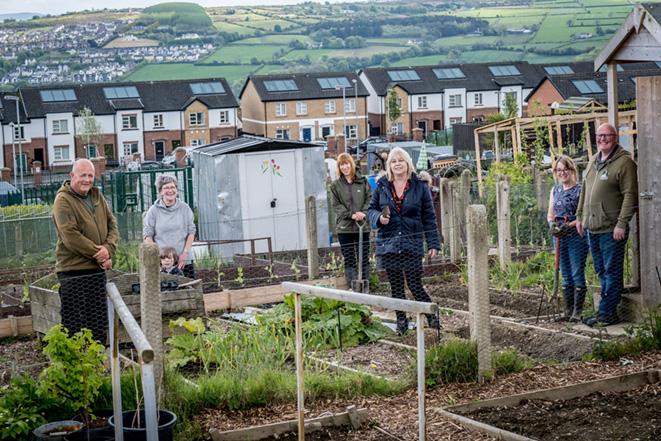 Ballymagowan Gardening Allotments in Creggan, Derry