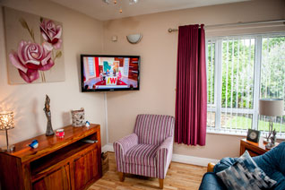 Visitors and TV / sitting room