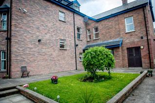 Garden courtyard at Foyle Valley House