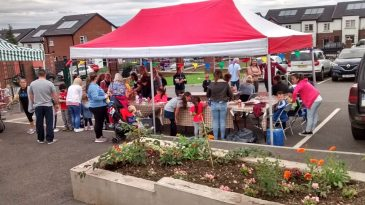 People enjoying the activities at the fun day