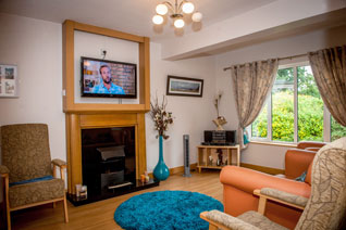 TV lounge at Belmont cottage
