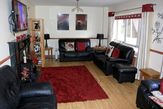 The common room in Dunvale House