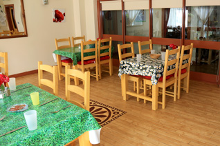The dining room in Dunvale House
