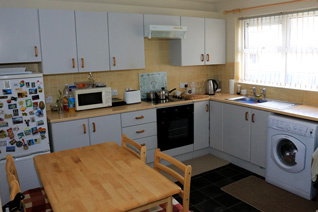 St Canices, Eglinton. A kitchen in one of the bungalows